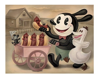 Oswald's Weiners - Fine Art Print by Nouar