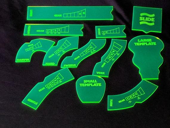 Fluor-grün Gaslands Standard-Bewegung-Vorlagen | Etsy