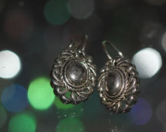 1960's Sterling Silver  Lever back Earrings