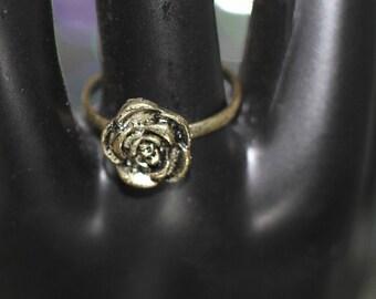 Mid Century Rose Adjustable Ring
