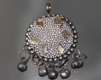90's Silver Tribal Tassel Pendant