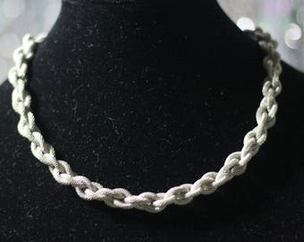 925 Twist Rope Necklace *Excellent Condition