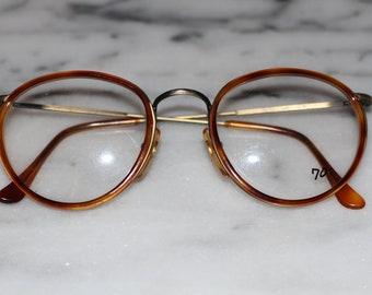 a575ff93b4cba8 70 s Round Brown Glasses w  70 s Monogram