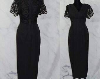 19c92201a38 Susan Roselli for Vijack Black Formal Gown w  Side Split (8)