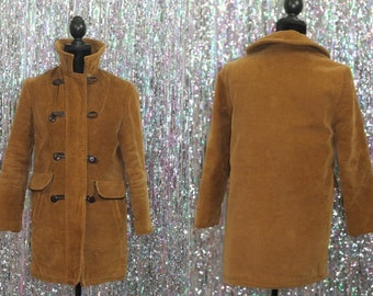 1970's Debbie Leigh Corduroy Pea Coat (9-10)