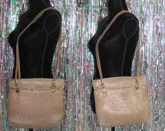 Tan Sequin Shoulder Bag *Excellent Condition