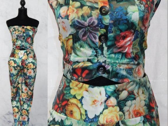 Silk Floral Top + Pants Set (s)