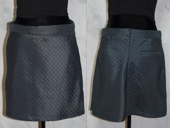 Blue Quilted Skirt (8)