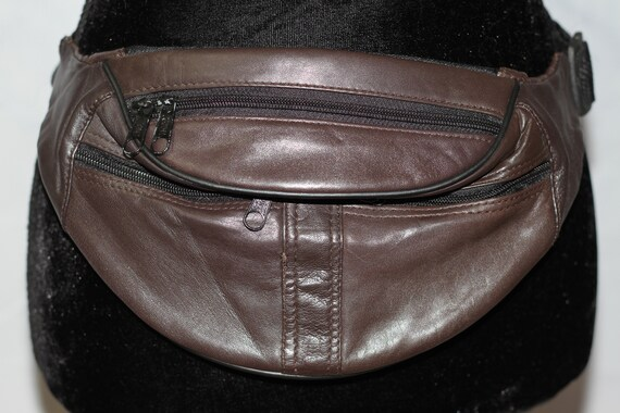 Leather Brown Fanny Pack