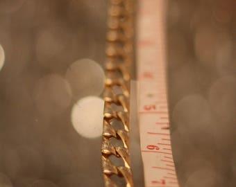 Vintage 90's gold chain link bracelet
