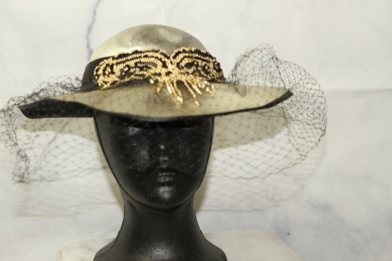 Silver & Gold Victorian Hat (7)