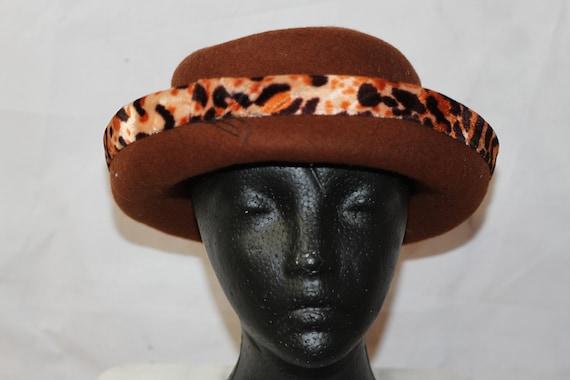 Leopard Wool Bucket Hat