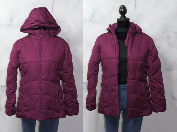 Faded Glory Burgundy Puff Coat (M) - image 1
