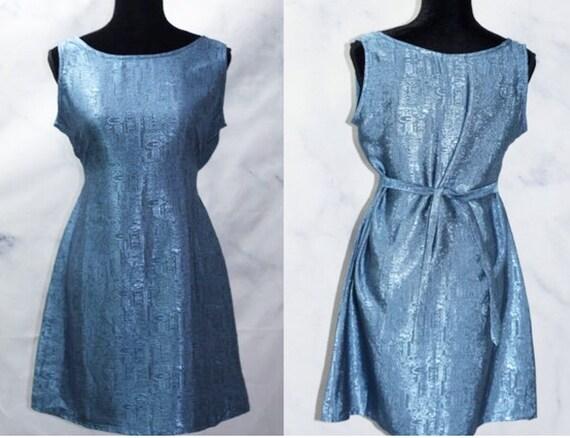Thai Silk Royal Blue Silk Dress (S)