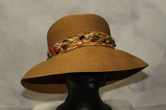 up-to-date styling stili classici negozio ufficiale Vintage Cappelli Straw Ord, Inc. Paper Vegan Beaded Decorative Hat