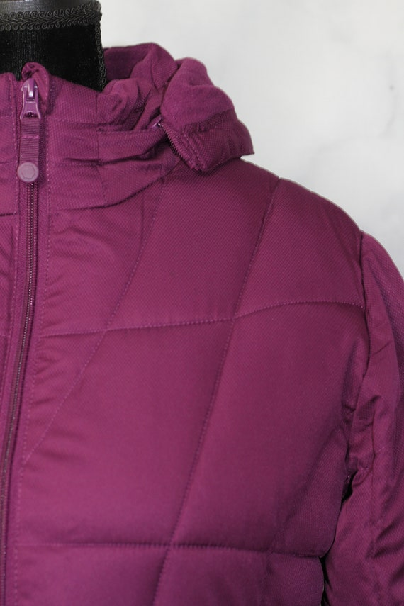 Faded Glory Burgundy Puff Coat (M) - image 3
