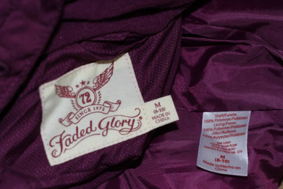 Faded Glory Burgundy Puff Coat (M) - image 10