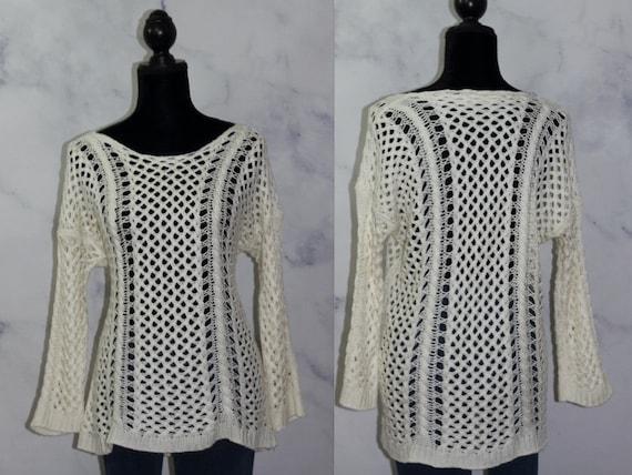 White Fishnet Sweater (s)