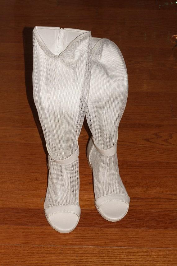 70 70 70 ' s Net Open Toe Sandals 81/2 (Excellent État) a961e5