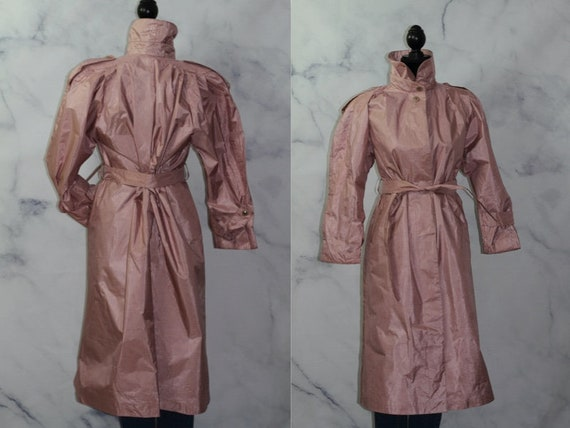British Mist Pink  Doubled Breasted Coat Trench Co