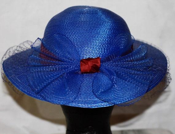 Designed By Sylvia Blue & Red Mushroom Hat