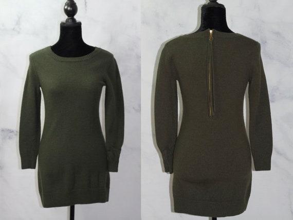 Cynthia Rowley  Wool Army Green  Dress (S)