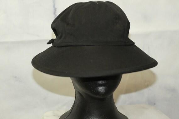 Black Cotton Newsboy Hat