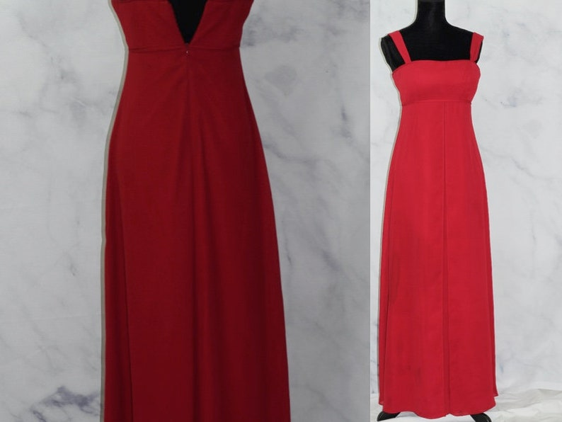 David S Bridal Evening Gown Classic Apple Red Formal Dress 6
