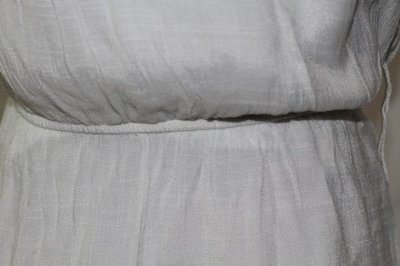 90's White Ruffle Top Maxi Dress (L) - image 4