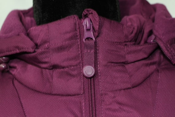 Faded Glory Burgundy Puff Coat (M) - image 2