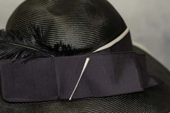 ADOLFO Green Wide Brim Feathered Hat (8) - image 6