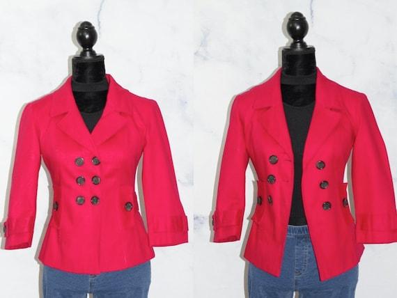 Vintage Banana Republic Hot Pink Blazer (2)