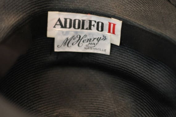 ADOLFO Green Wide Brim Feathered Hat (8) - image 8