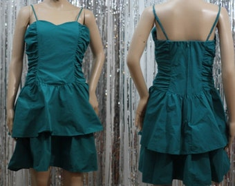 Vintage 90's Turquoise Mini Dress (S)