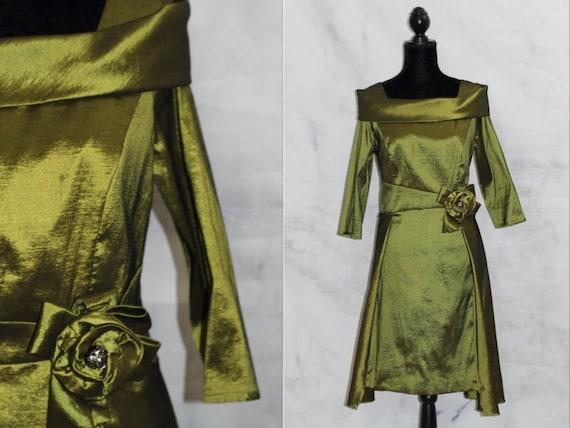 Chancelle Green Dress (12)