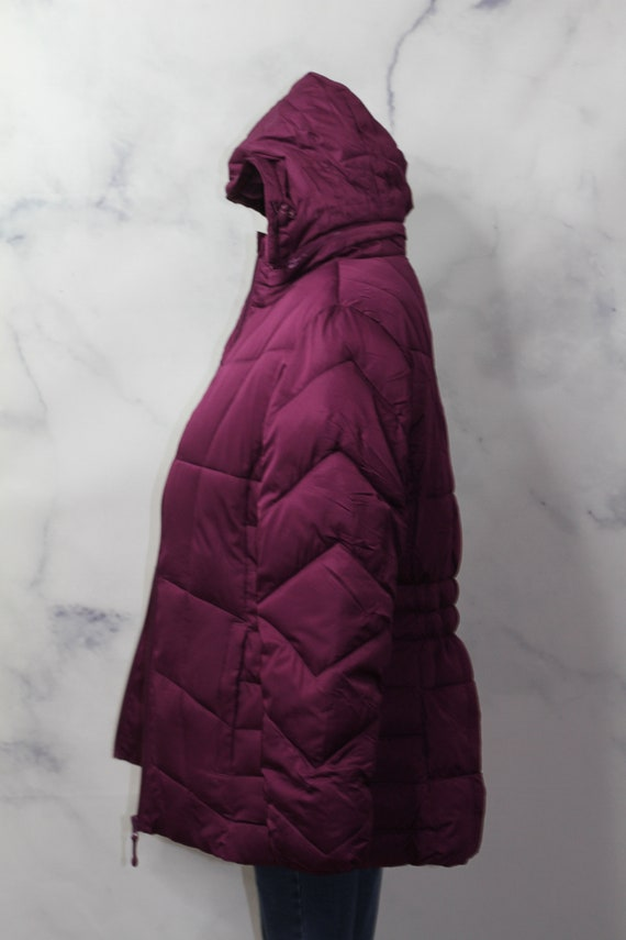 Faded Glory Burgundy Puff Coat (M) - image 7