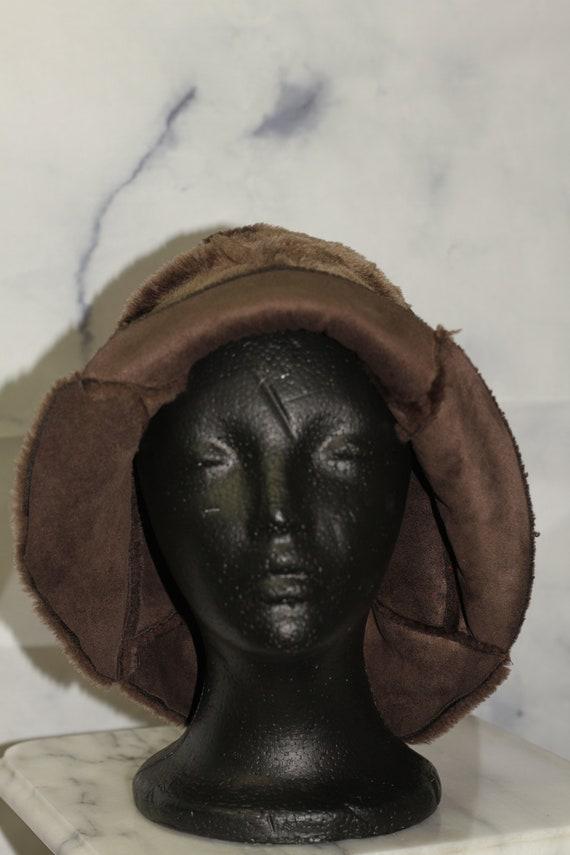 Brown Suede Bucket Hat