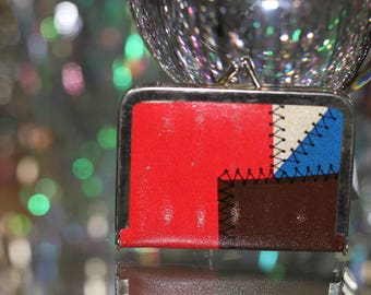90's Multi Colour Thread Compact Wallet  *Excellent Condition