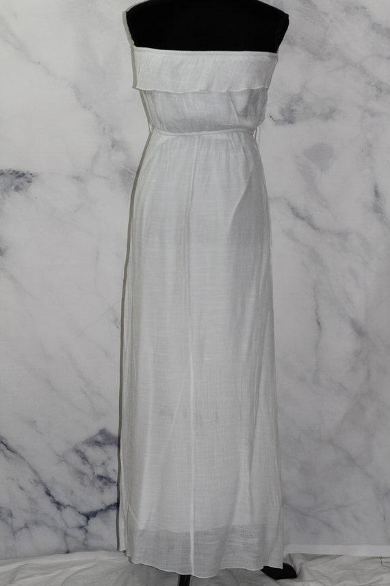 90's White Ruffle Top Maxi Dress (L) - image 7