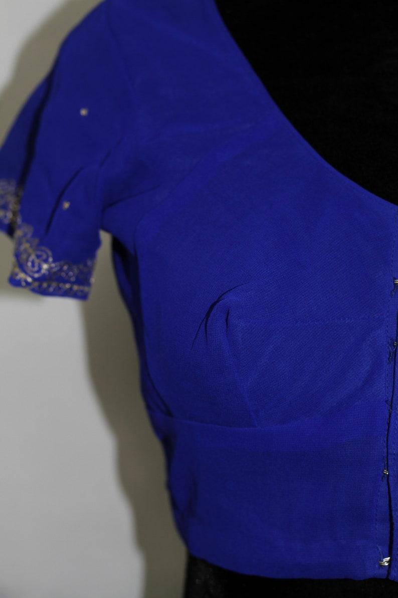 s Handmade Royal Blue Mid Drift Top