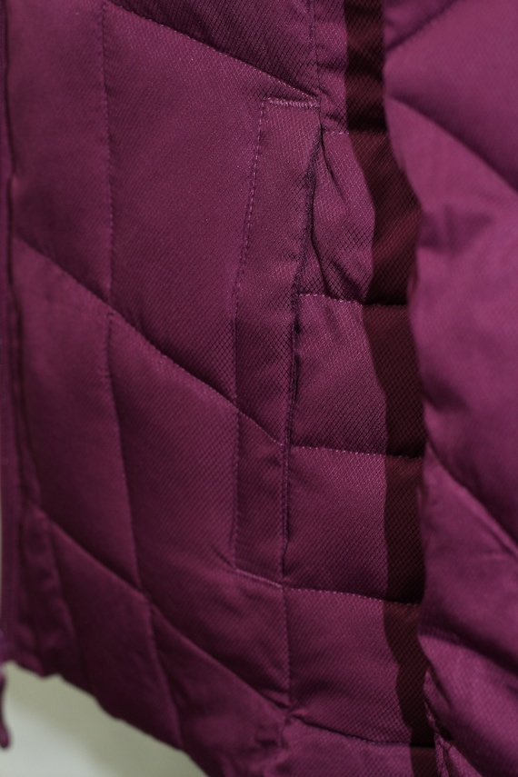 Faded Glory Burgundy Puff Coat (M) - image 4