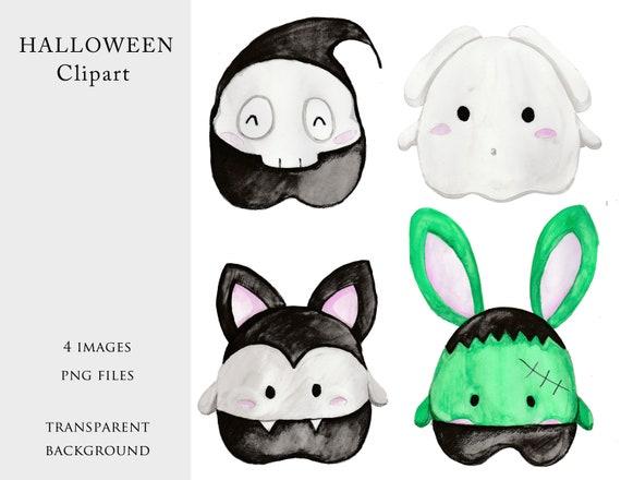 Halloween Clip Art, Ghost, Frankenstein, Death, Vampire, PNG File