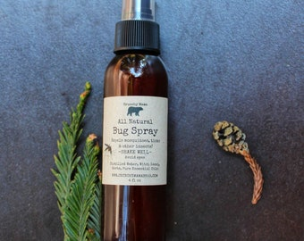 All Natural Bug Spray-Non Toxic mosquito, tick & flea repellent