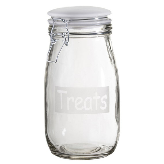 """Treats"" 52 oz. Café Dog Treat Jar"