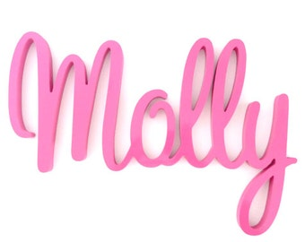 Wooden name, Kids name sign, Nursery Decor, Kids room sign, Door Sign, New baby gifts - Font Bliss