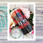 Blood Of My Enemies Glitter Tumbler