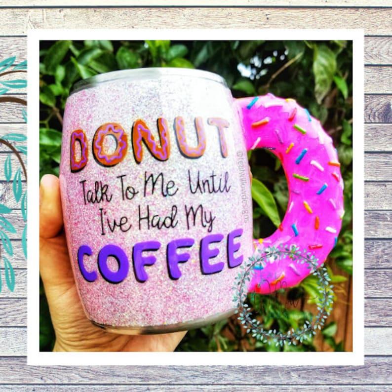 Sculpted Donut Glitter Mug image 0