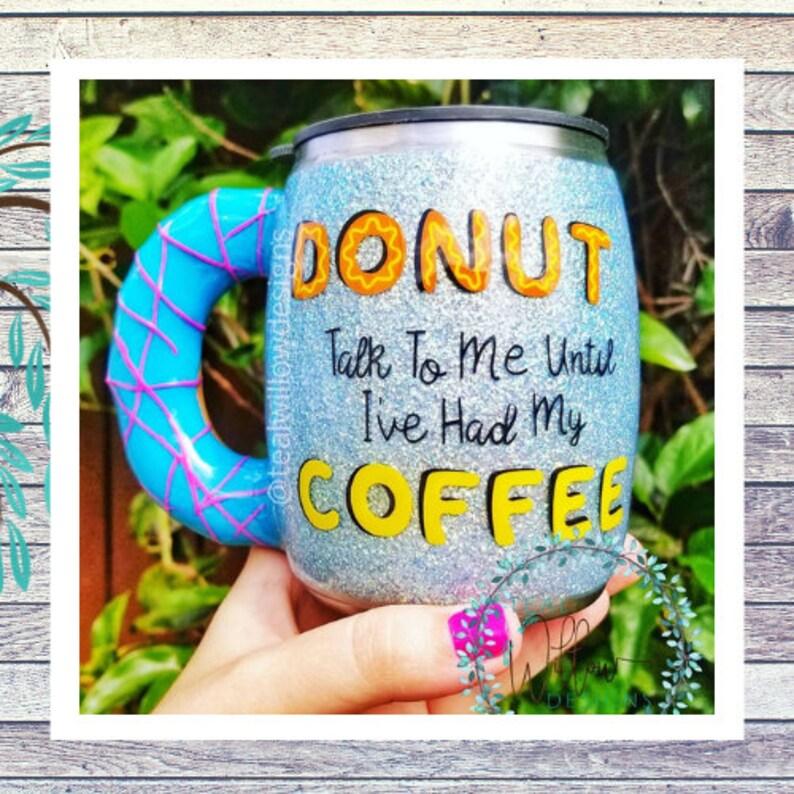 Blue Donut Glitter Tumbler image 0