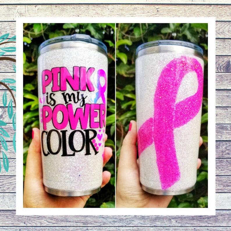 Breast Cancer Awareness Glitter tumbler image 0