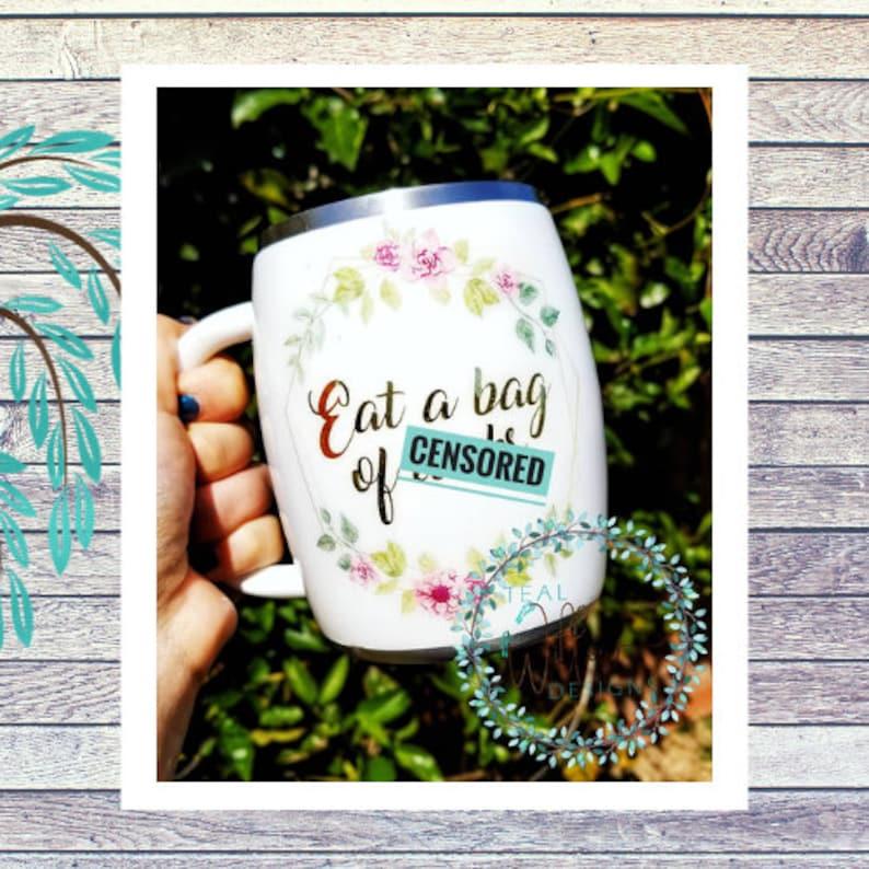 Floral Adult Humor Insulated Coffee Mug image 0